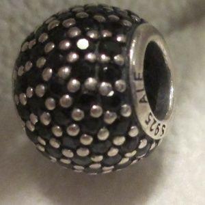 Pandora Sterling Silver Black Pave Lights CZ Bead